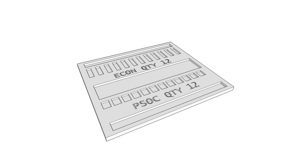SketchUp Model of the Part Tray