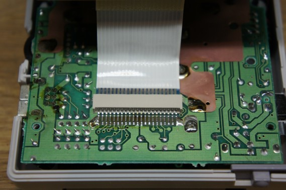 Front board and LCD connector for the Gameboy DMG-01.