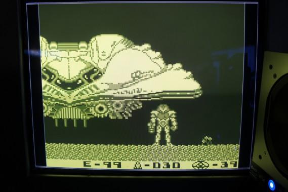 "Gameboy DMG-01 screenshot displayed from DE0 FPGA RAM. Simulating original Gameboy ""yellow-green"" pallet."