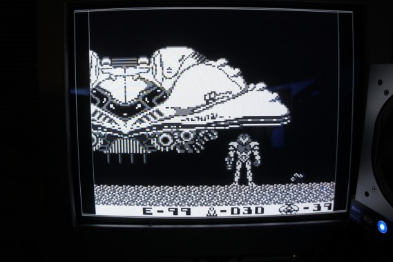 Gameboy DMG-01 screenshot displayed from DE0 FPGA RAM. Using B/W color scheme.