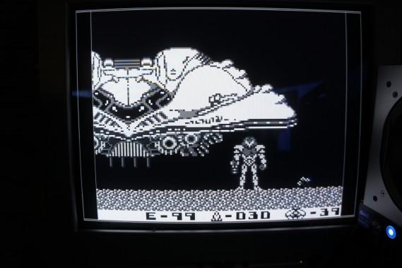 Gameboy DMG-01 screenshot displayed from DE0 FPGA RAM. Using B/W color scheme.