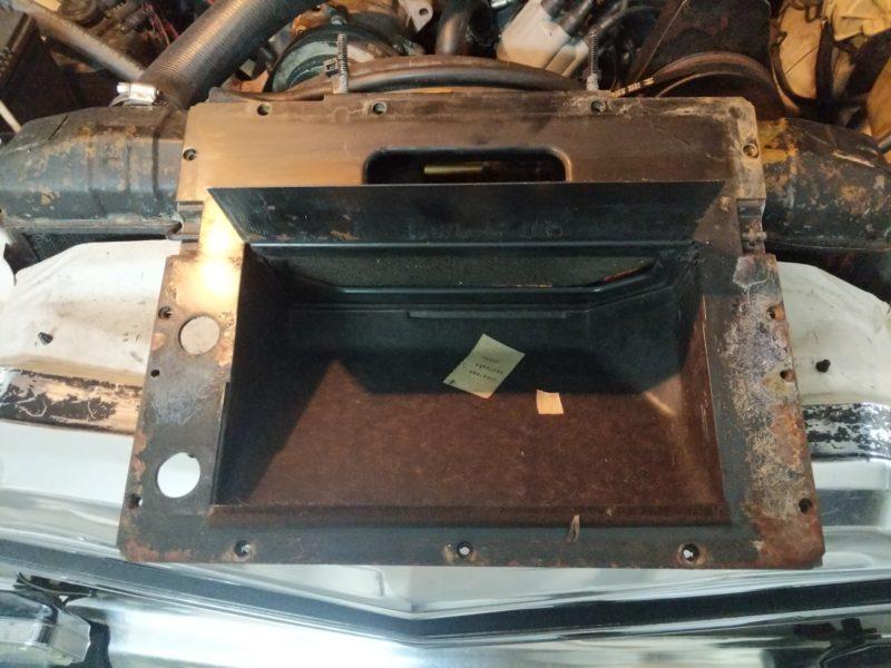 Metal inner plate installed.