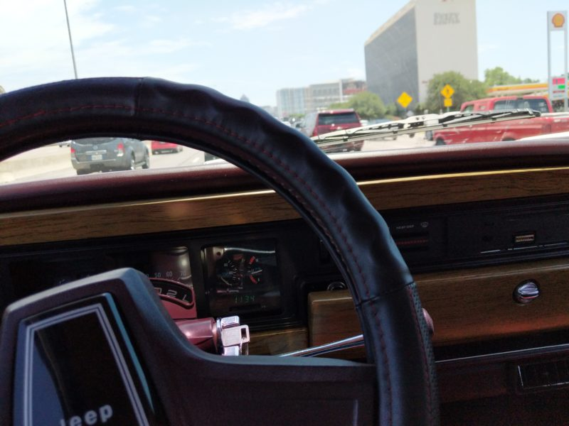 Stuck in Dallas traffic after picking up the Wagoneer.