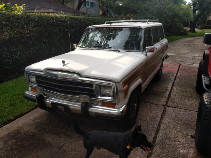 Wagoneer in the driveway after the long day.
