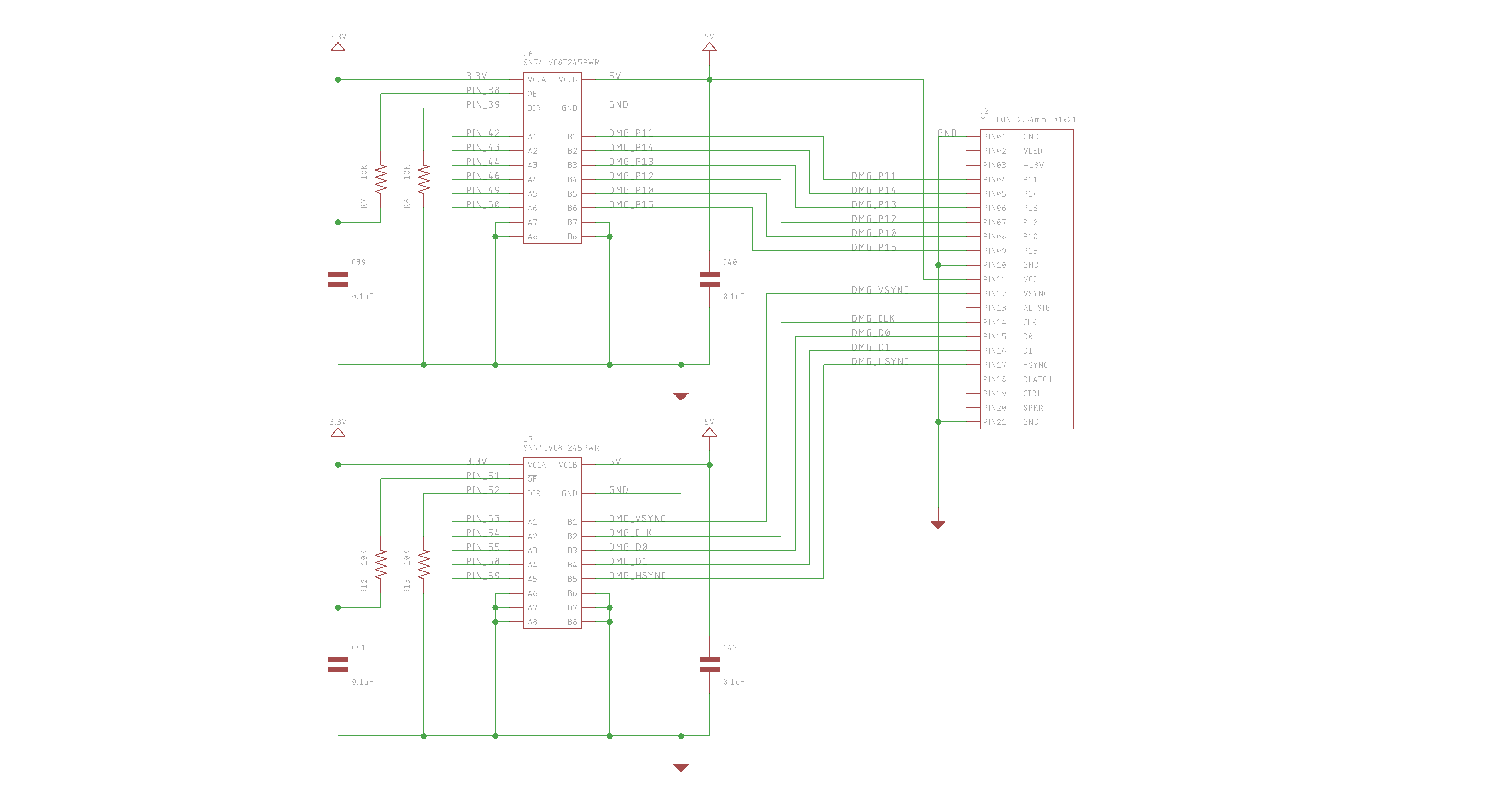 Gameboy Dmg 01 Vga The Longhorn Engineer Levelshiftercircuitdiagbmp Mod Voltage Level Shifter Section
